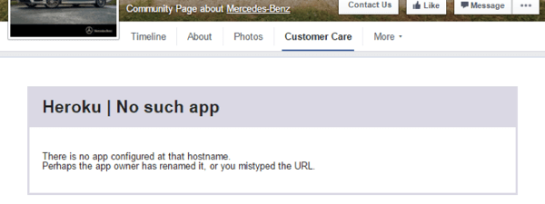 Kundendienst-App auf Facebook