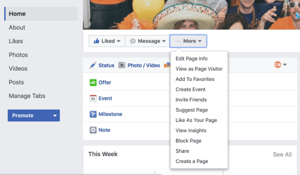 manage facebook tabs