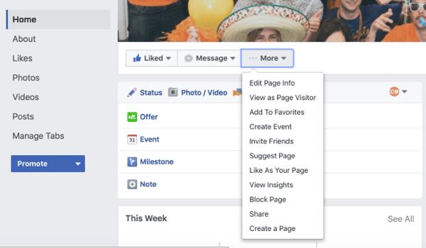 manage facebook tabs