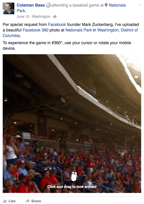 nationals park facebook 360 photo