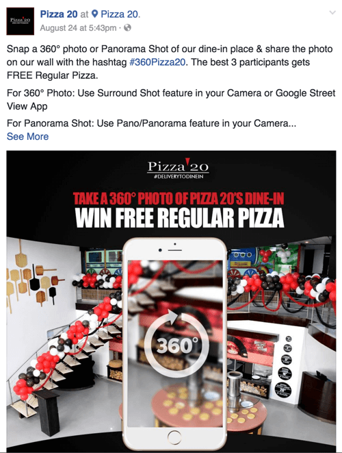 pizza 20 facebook 360 photo