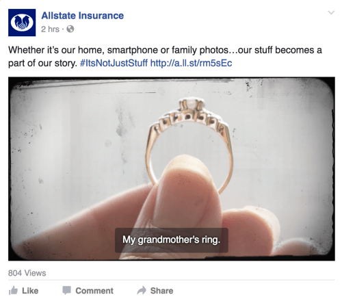 allstate facebook post