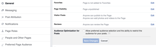 facebook audience optimization for posts