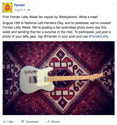 fender facebook post