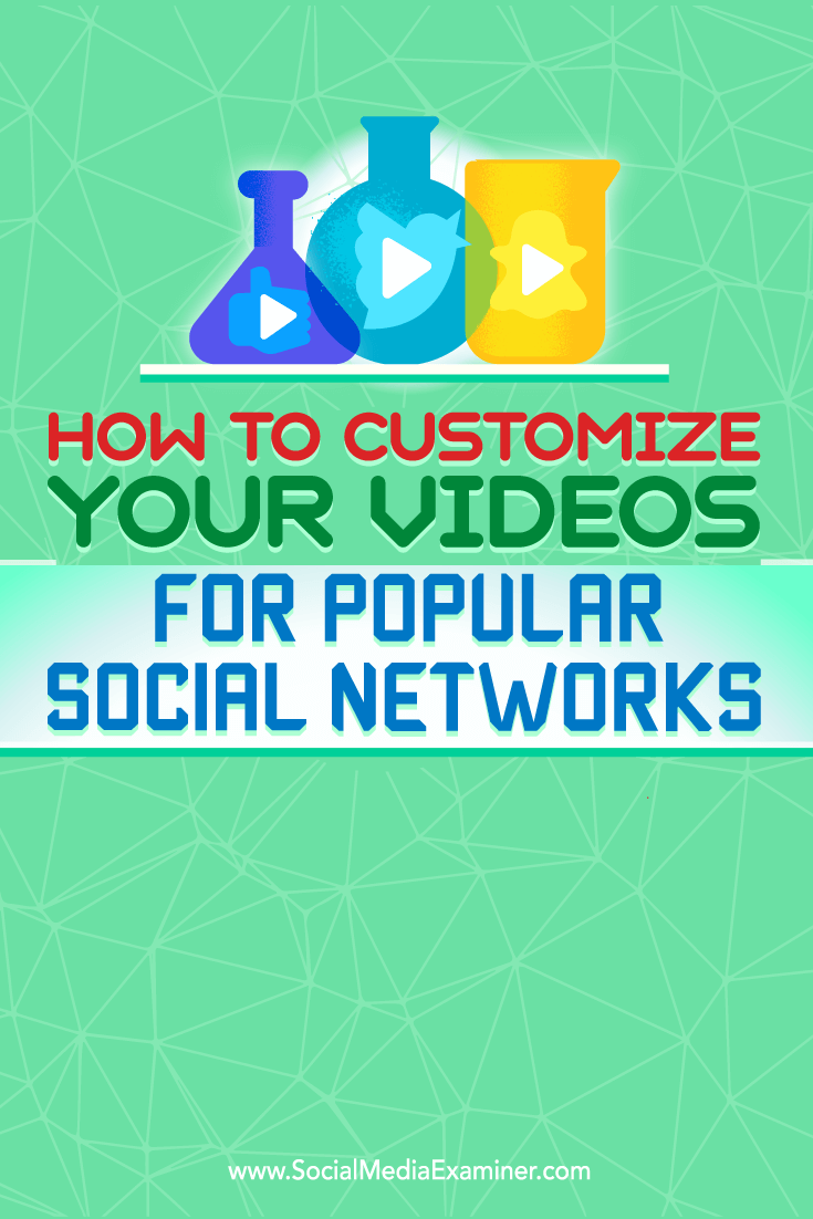 Tips on how to customize your videos for better performance on the top social networks.