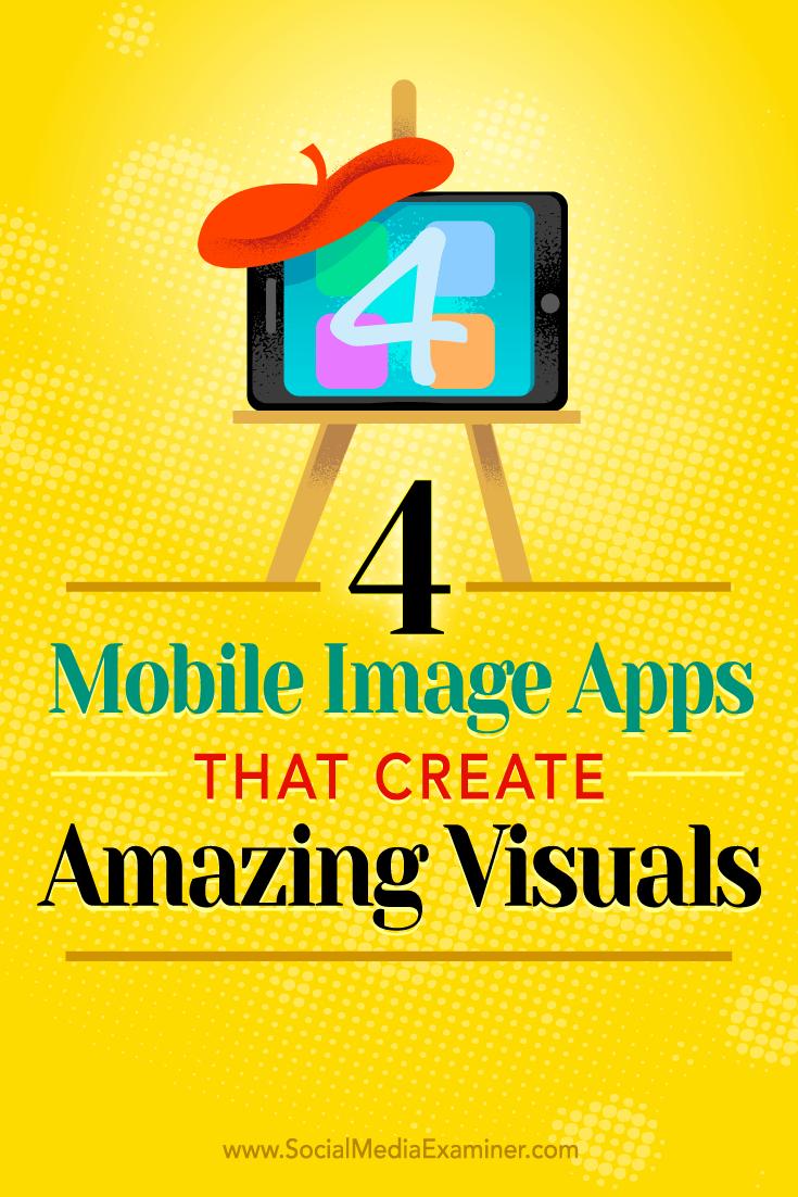 Tipps zu vier mobilen Apps, mit denen Sie unterwegs beeindruckende Social-Media-Bilder erstellen können.