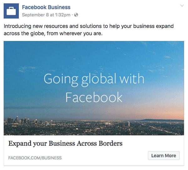 facebook for global business