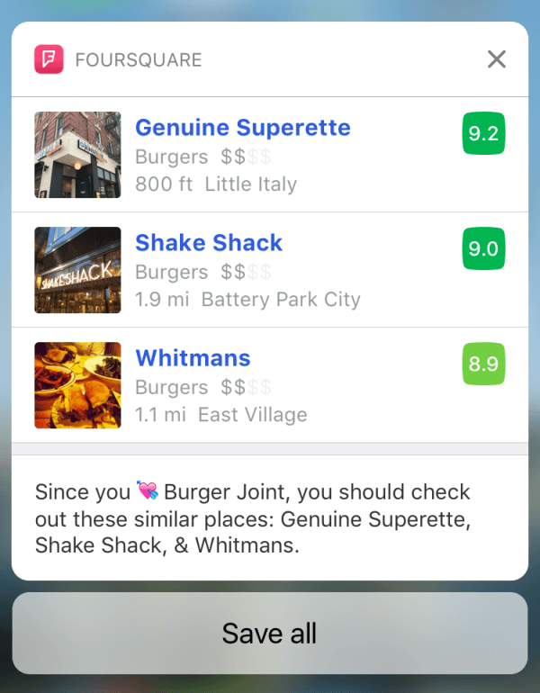 foursquare redesigned app
