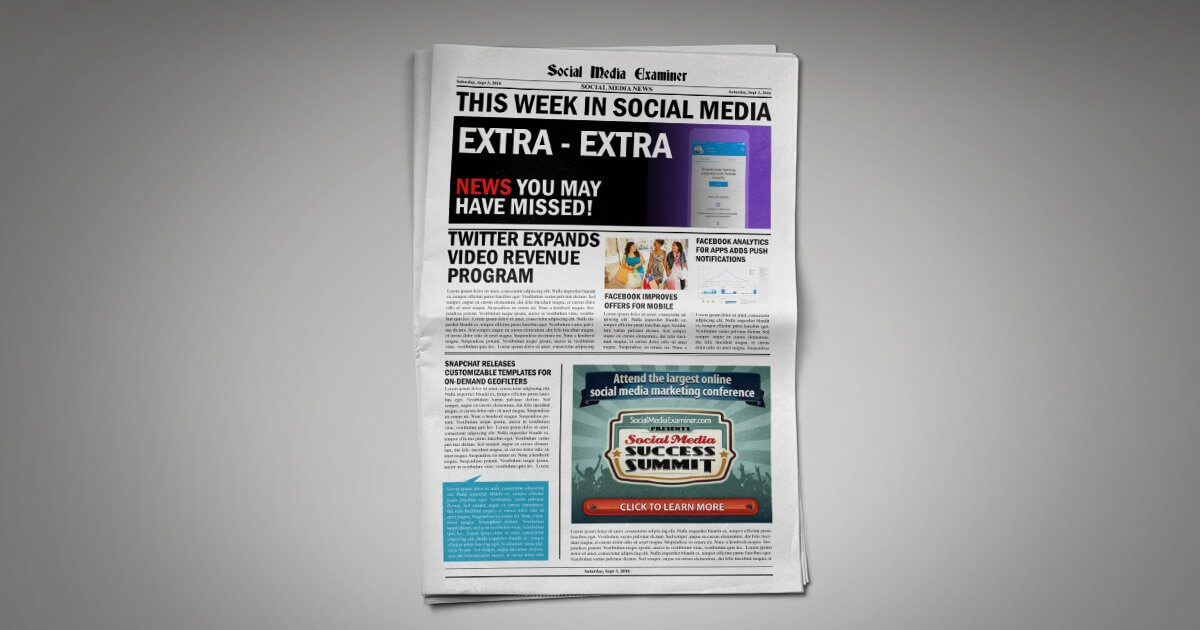 Twitter Opens Pre-Roll Video Ads and Video Revenue Sharing: This Week in Social Media