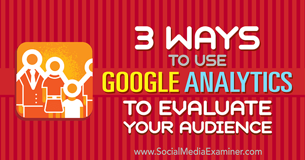 use google analytics to examine social media audience
