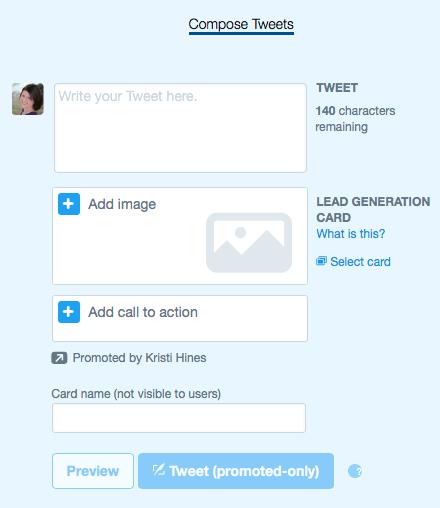 create twitter lead generation card