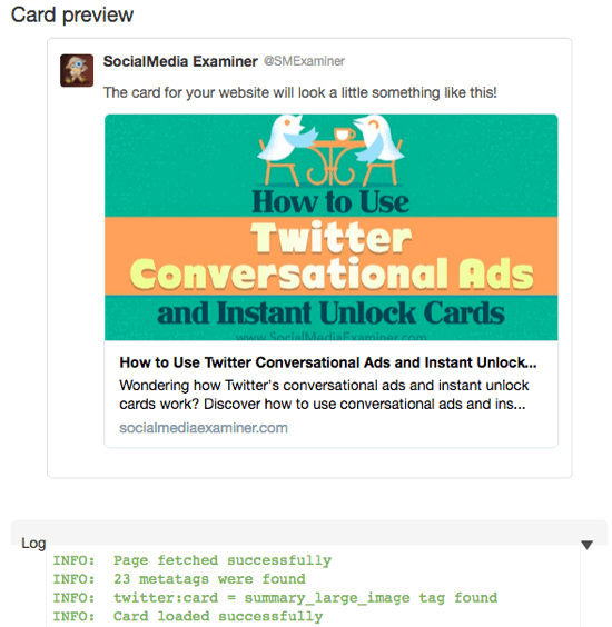 twitter card validator