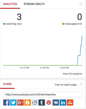 youtube live analytics