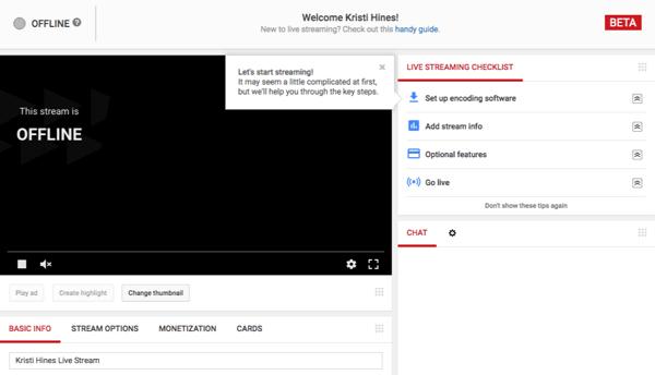 youtube live dashboard