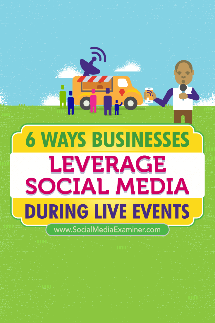 Tips on six ways business have leveraged social media to connect during live events.