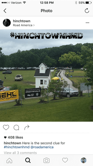 hinchtown scavenger hunt clues