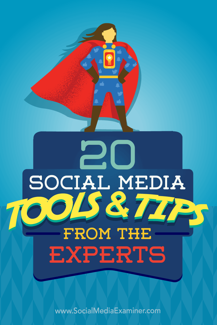 Tips on 20 ways to up your marketing with expert tips and tools.