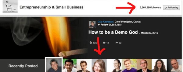 linkedin featured article