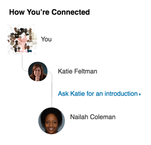 linkedin how you are connected
