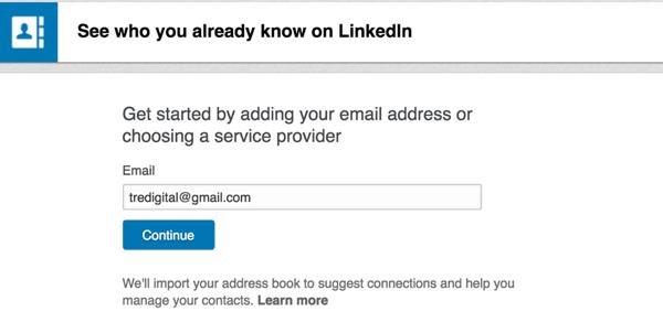 linkedin import address book