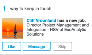 linkedin keep in touch