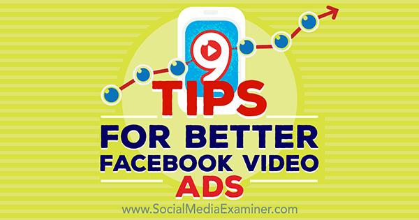 optimize video ads on facebook