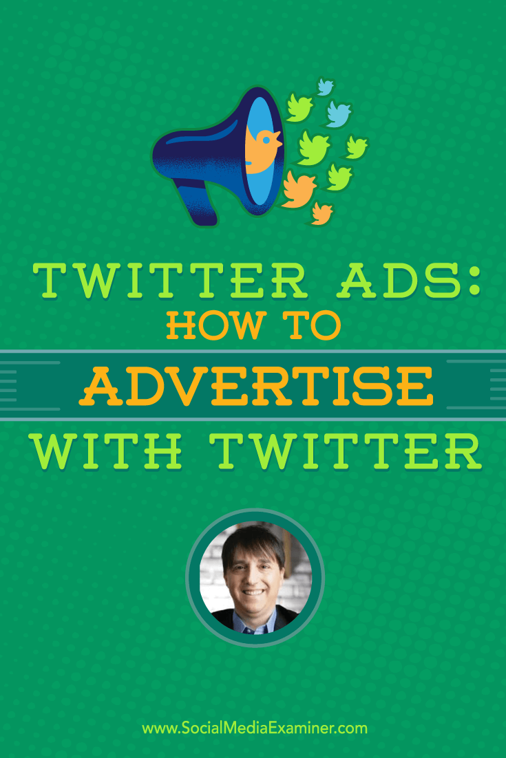 Neal Schaffer talks with Michael Stelzner about how to advertise with Twitter.