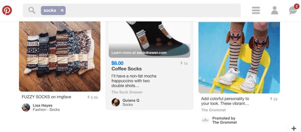 social media pin search