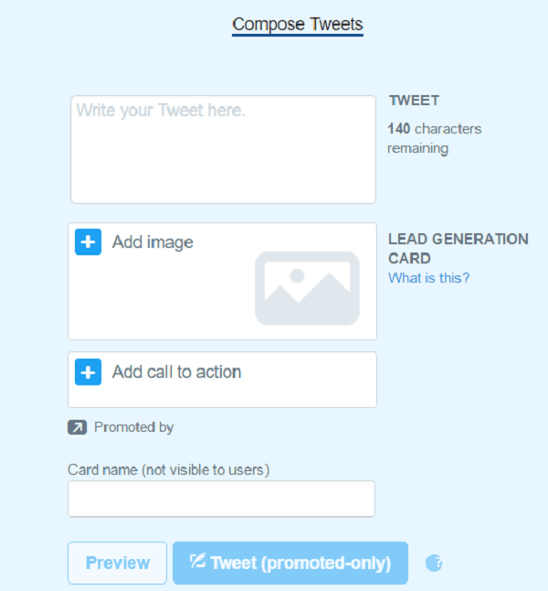 twitter card set up