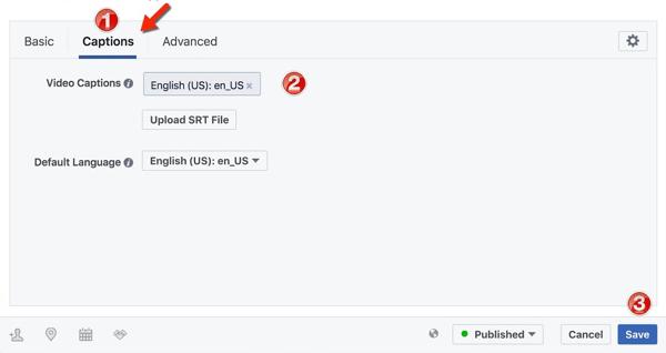 Laden Sie Untertitel für Facebook-Videoanzeigen hoch