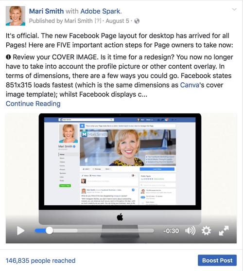 nützliches Facebook Video Beispiel