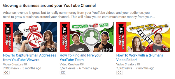 youtube business playlist