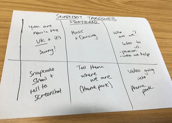 snapchat story plan