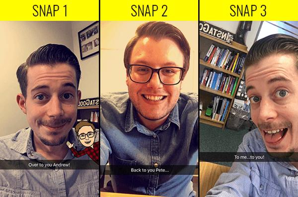 snapchat change cameraperson