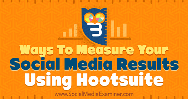 run hootsuite social media reports