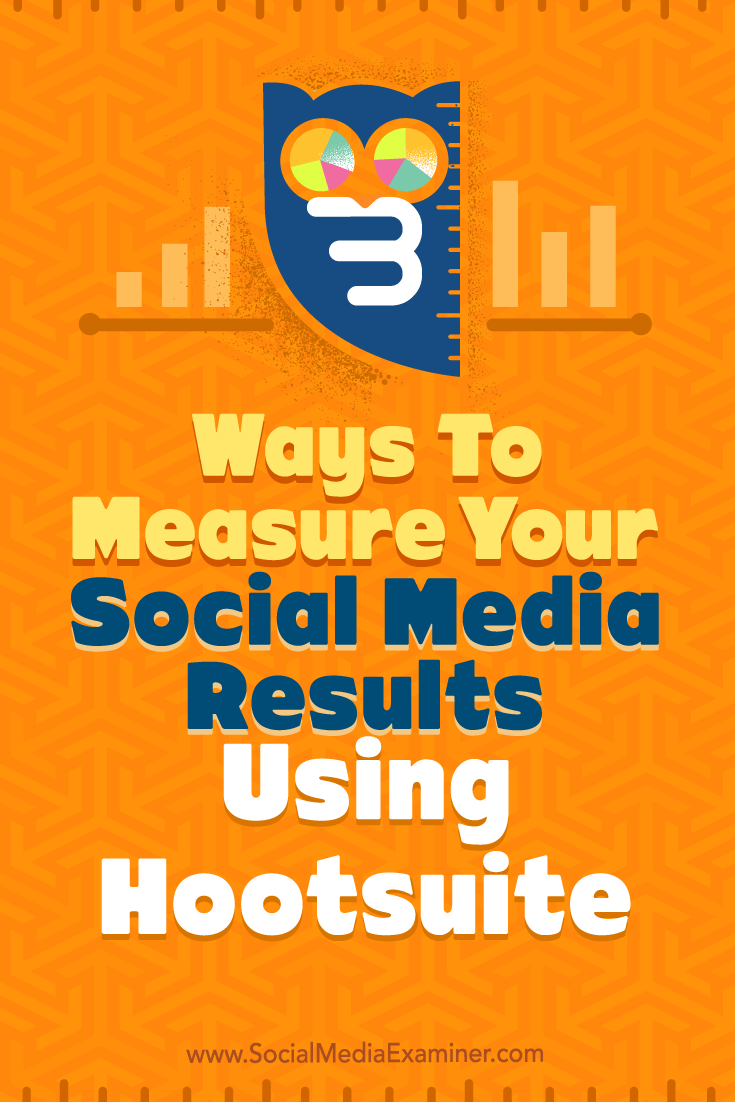 Tips on three ways to measure the results of your social media using Hootsuite.