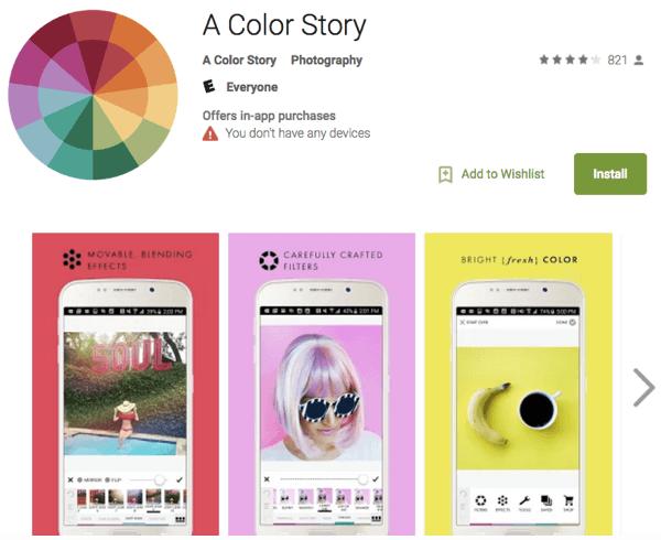 a color story app