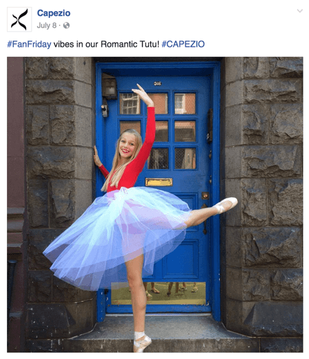 capezio facebook post