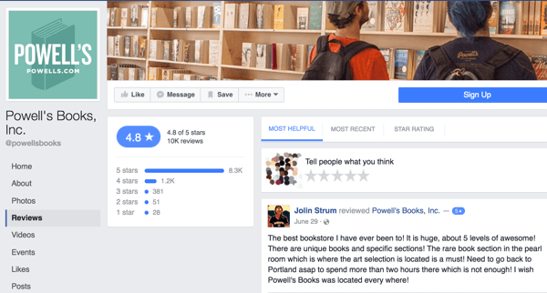 powells books facebook reviews