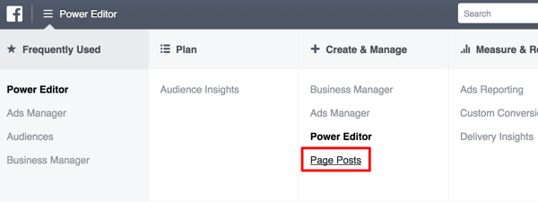 create dark facebook post