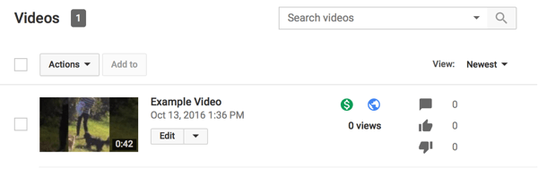 monetized youtube videos display a green dollar sign