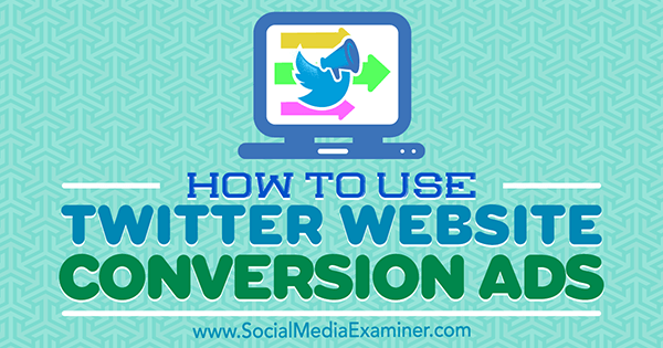 how to use twitter conversion ads for website
