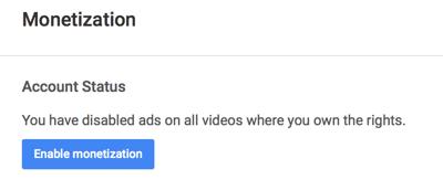 enable youtube monetization