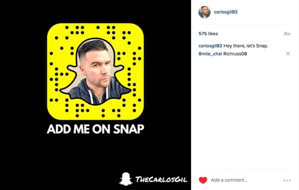 Instagram-Anzeige zur Förderung des Snapchat-Beispiels