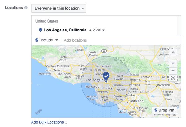 zielen Sie mit Facebook-Anzeige auf ein bestimmtes geografisches Gebiet ab