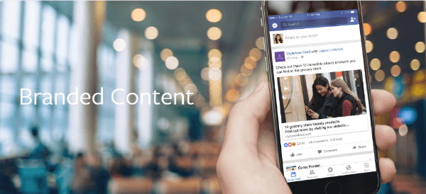 facebook branded content policy update