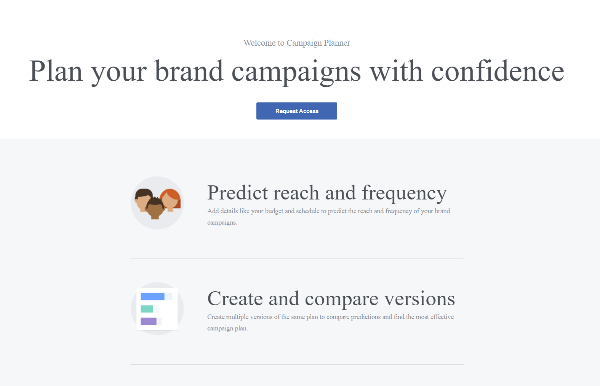 facebook campaign planner