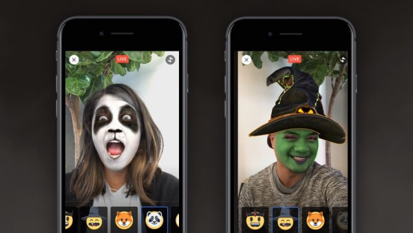 facebook halloween themed reactions and masks