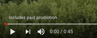 youtube paid promotion text