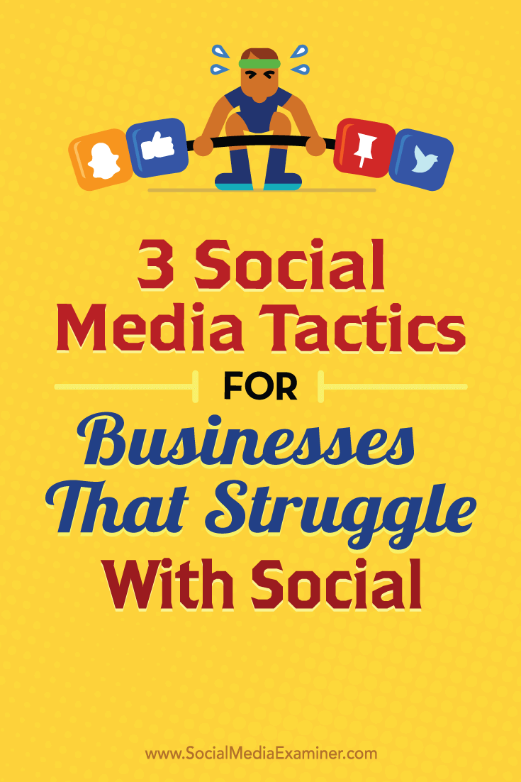 Tips on three social media tactics any business can use.
